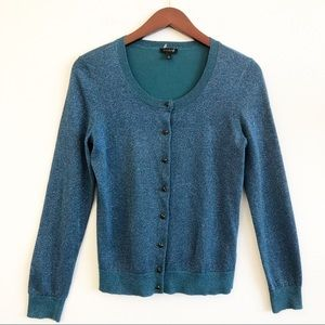 TALBOTS Sparkle Button Front Cardigan Sweater SZ S